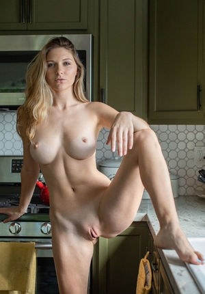 Huge Tits In Kitchen